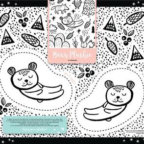 Cut-and-Sew Plushie Bear by Minikuosi