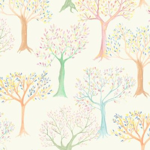 trees in spring
