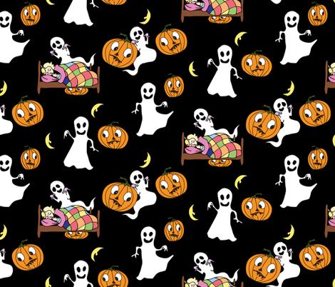 Halloween Ghosts fabric by jaanahalme on Spoonflower - custom fabric