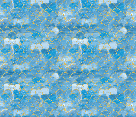 Elephant Scallops fabric by toocoolunicorn on Spoonflower - custom fabric
