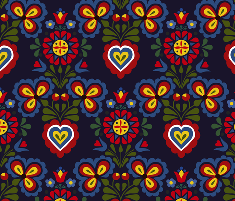 slovak motif 02 fabric by gomboc on Spoonflower - custom fabric