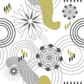 Absract Garden - Geometric Modern Flowers