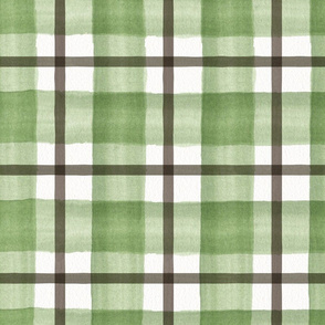 12 x 12 green and brown plaid