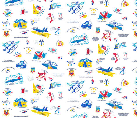 Home Sweet Mountain Home (Air Force Base)-Small Scale fabric by emileighrogers on Spoonflower - custom fabric