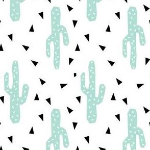 cactus mint tri triangle trendy design for minimal kids baby desert southwest