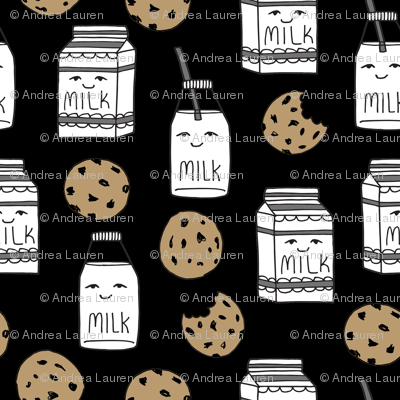 milk and cookies // food kids nursery baby kids