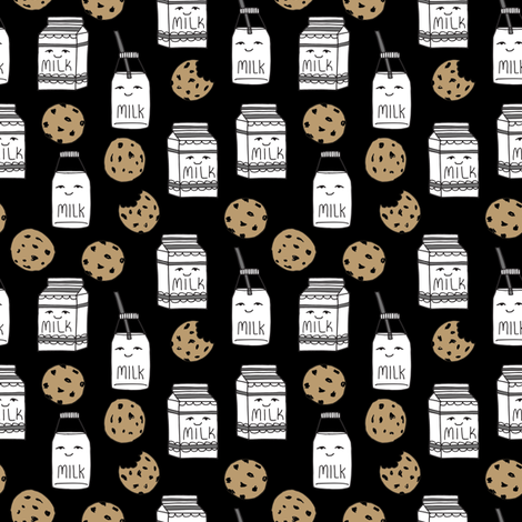 milk and cookies // food kids nursery baby kids fabric by andrea_lauren on Spoonflower - custom fabric