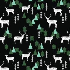 SMALL - Reindeer Geo Forest - Black by Andrea Lauren
