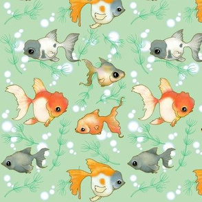 Goldfish (Small print green)