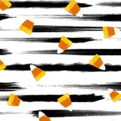 Candy Corn Stripes (Procreate Illustration)