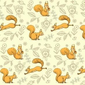 Squirrel! (Small print cream)