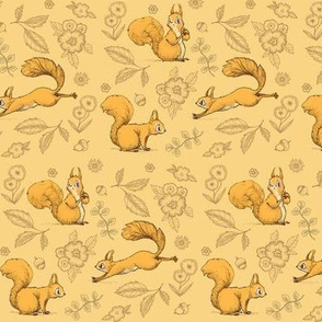 Squirrel! (Small Print Orange)