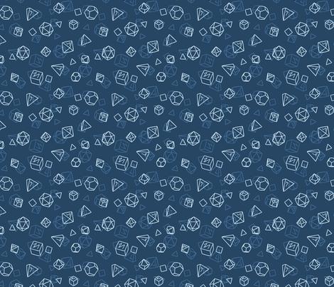 Geo Tabletop Dice - Small fabric by electrogiraffe on Spoonflower - custom fabric