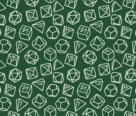 Geo Tabletop Dice - Large fabric by electrogiraffe on Spoonflower - custom fabric