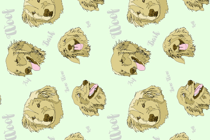 Golden Scribbles fabric by apolloofthestars on Spoonflower - custom fabric
