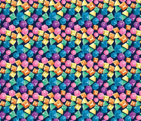 Rainbow Tabletop Dice fabric by electrogiraffe on Spoonflower - custom fabric