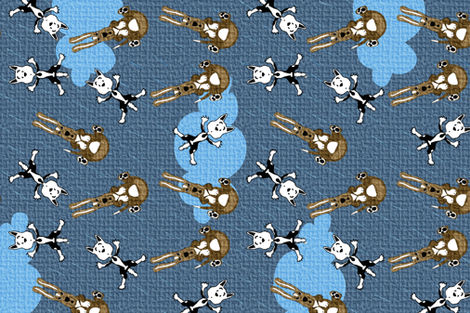 Raining Cats and Dogs! fabric by lkm3s on Spoonflower - custom fabric