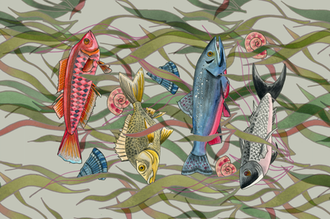 Underwater Wonder fabric by washburnart on Spoonflower - custom fabric