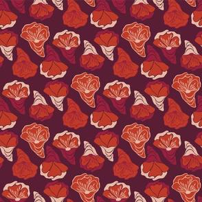 Cute Retro Red Rose Blossom Flower Head