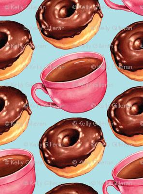 Coffee & Chocolate Donuts - Blue