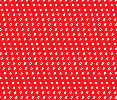 Hurricane red and white fabric by khaus on Spoonflower - custom fabric