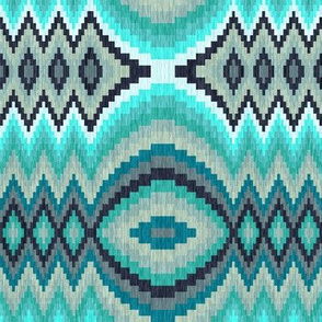 Mint Bargello Egg and Dart 2