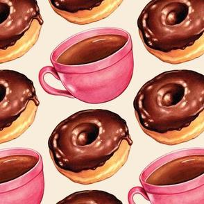 Coffee & Chocolate Donuts - White