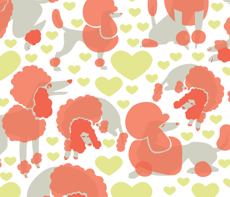 RedPoodlesWallpaper-01 fabric by harlequin_herd on Spoonflower - custom fabric