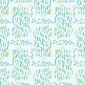 Blue and Green Aqua Water Falling Vector