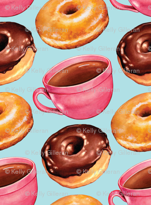 Coffee & Donuts -Blue