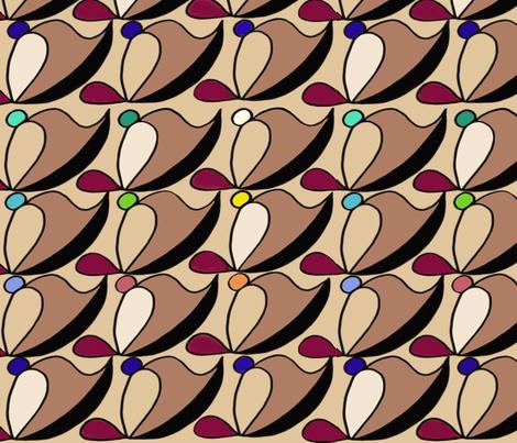 Pop Dot Wedding Tesselation  fabric by kskuared on Spoonflower - custom fabric