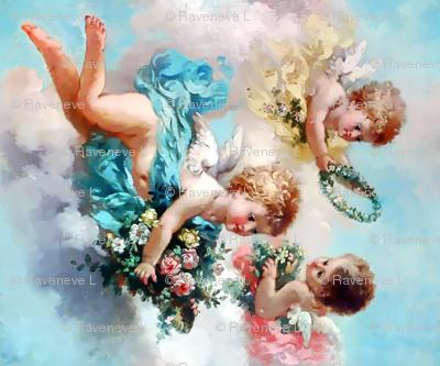 custom cherubs angels rotated