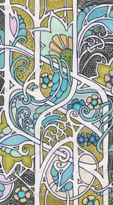 Nouveau Garden of Dots and Blooms