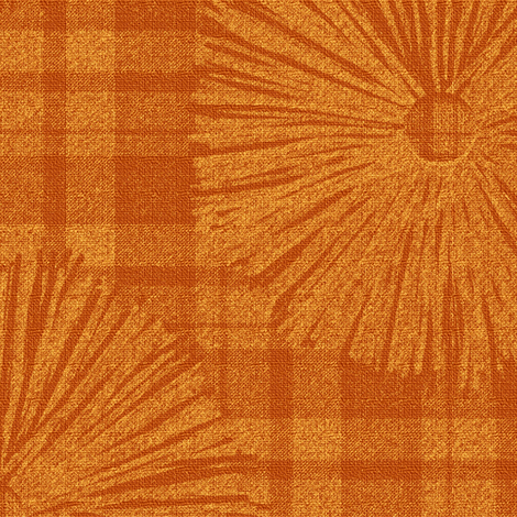 2 Autumn Mums in Digital Graphic Pen fabric by anniedeb on Spoonflower - custom fabric