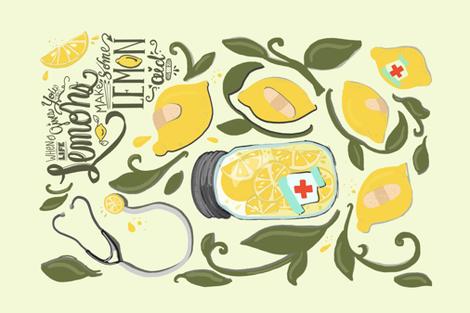 Lemonade/lemon-aide tea towel fabric by tiffanyagam on Spoonflower - custom fabric
