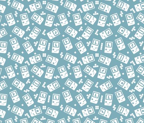 Throwback_90s_game_console_pattern_mono6 fabric by enariyoshi on Spoonflower - custom fabric
