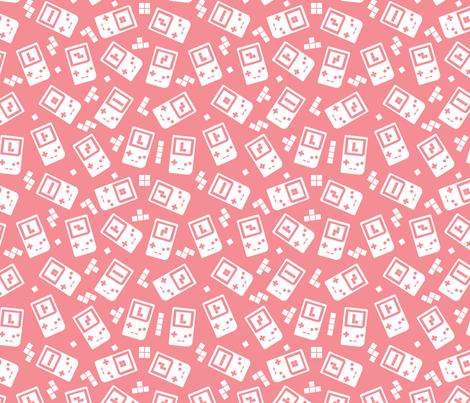 Throwback_90s_game_console_pattern_mono4 fabric by enariyoshi on Spoonflower - custom fabric