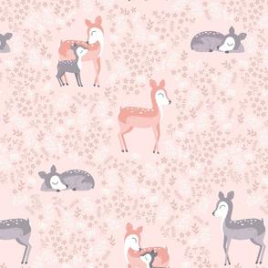 Floral Deer - peach