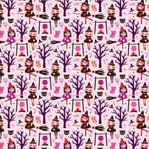 Magic poison and witch halloween pattern SMALL