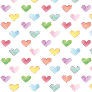 hearts multi colored