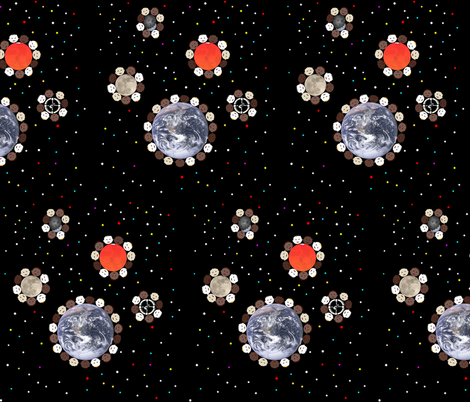 Planetary Space Babies fabric by combatfish on Spoonflower - custom fabric