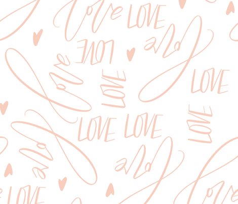 calligraphy_love-04 fabric by enariyoshi on Spoonflower - custom fabric