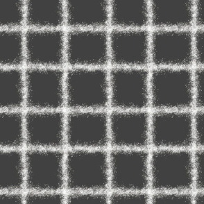 speckled plaid white on gray graphite charcoal