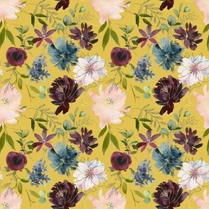 "8"" Winter Whisper Florals // Anzac Yellow"