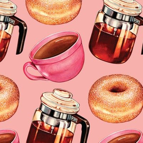 Coffee Donuts & Percolator - Pink