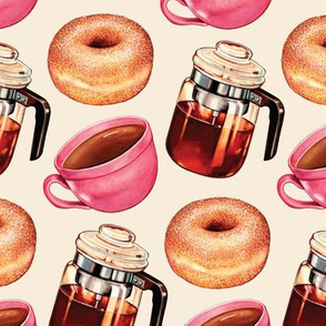 Coffee Donuts & Percolator