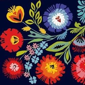 Wycinanki motif blue