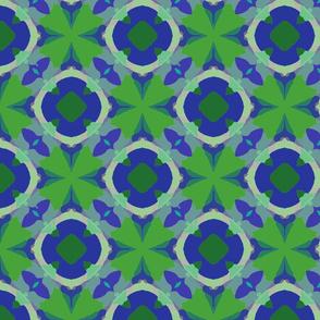 Blue + Green Pattern | Artistic Geometric