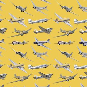 Douglas Dakota DC3 - Yellow Background
