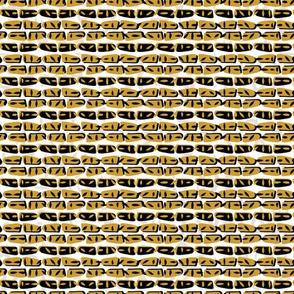 Yellow and Black Abstract Drawn Cryptic Symbols
